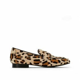 Leopard Print Suede Loafers