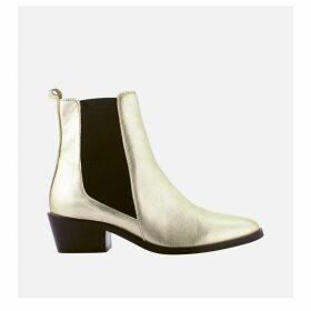Finato Metallic Leather Boots