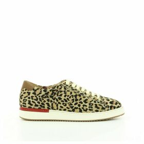 Leapord Print Leather Trainers