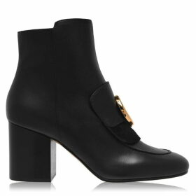Chloe Leather Ankle Boots