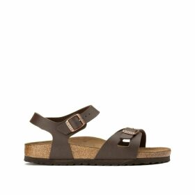 Rio Faux Leather Flat Sandals
