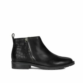 Bettanie Leather Chelsea Ankle Boots in Faux Snakeskin
