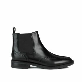 Bettanie Leather Chelsea Ankle Boots with Perforated Detail