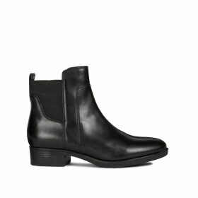 Felicity Leather Ankle Boots with Block Heel