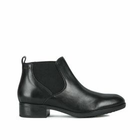 Felicity Leather Chelsea Ankle Boots with Block Heel