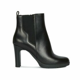 Annya Leather Ankle Boots with High Heel