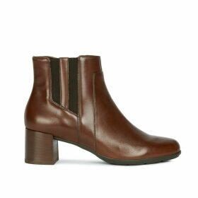 New Annya Leather Ankle Boots with Block Heel