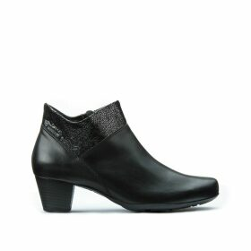 Michaela Leather Ankle Boots with Heel