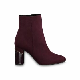 Francesca Heeled Ankle Boots in Faux Suede