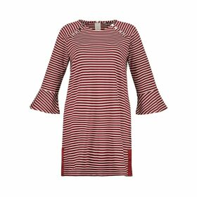 Breton Striped Shift Dress with Long Sleeves