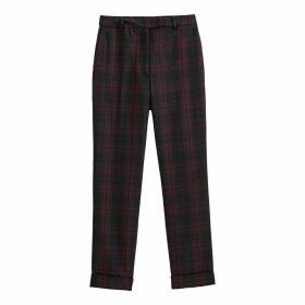 Tartan Check Slim Trousers, Length 26