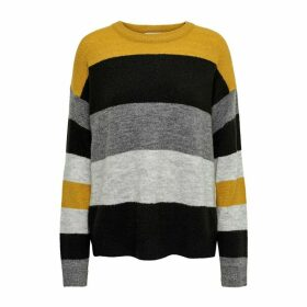 Striped Jumper with Round Neck