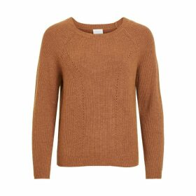 Chunky Knit Jumper with Crew Neck