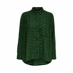 Long-Sleeved Check Shirt with Breast Pocket