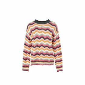 Eloi Crew Neck Jumper with Rainbow Stripes