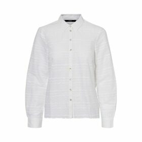 Embroidered Cotton Shirt with Long Sleeves
