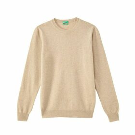 Wool Fine Knit Jumper with Round Neck