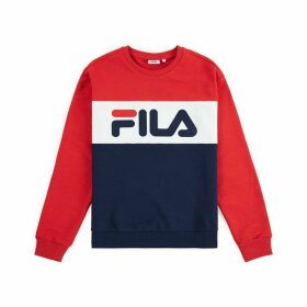 Leah Colour Block Jumper in Cotton Mix with Crew Neck