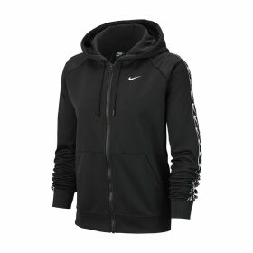 Zip-Up Hoodie with Pocket and Logo on Sleeves
