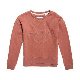Applique Cotton Mix Sweatshirt with Round Neck