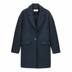 Single-Breasted Boyfriend Coat with One Button