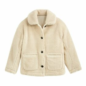 Teddy Faux Fur Jacket with Pockets