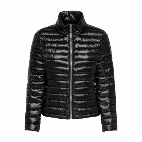 Zip-Up Shiny Padded Jacket