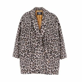 Mid-Length Leopard Print Coat