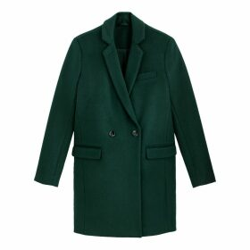 Wool Mix Coat with Single-Breasted Buttons and Pockets