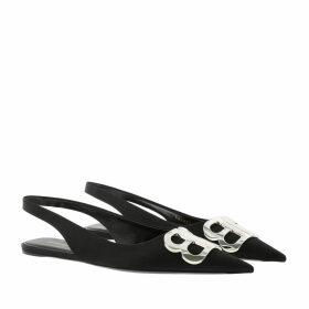 Balenciaga Ballerinas - Slingback Logo Ballerina Black - black - Ballerinas for ladies
