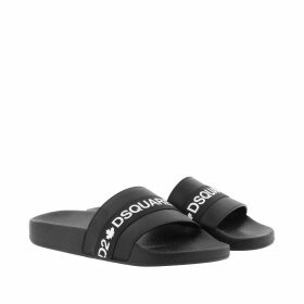 Dsquared2 Loafers & Slippers - DSquared Slides Black/White - black - Loafers & Slippers for ladies