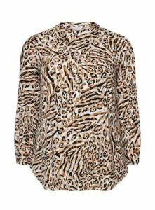 Neutral Animal Printed Shirt, Dark Multi