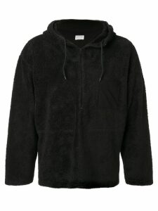 Helmut Lang Pre-Owned 1999 textured drawstring hoodie - Black