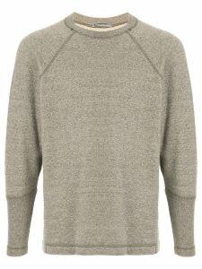 Issey Miyake Pre-Owned 1980's logo printed sweatshirt - Grey