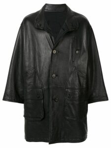 Issey Miyake Pre-Owned 1980's Sport Line reversible leather coat -