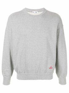 Issey Miyake Pre-Owned 1980's Sport Line logo print sweatshirt - Grey