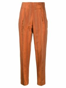 Romeo Gigli Pre-Owned 1997 tapered trousers - ORANGE