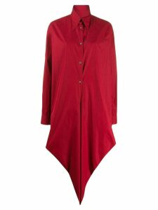 Romeo Gigli Pre-Owned 1990s oversized drape shirt - Red