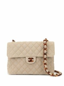 Chanel Pre-Owned quilted CC shoulder bag - NEUTRALS