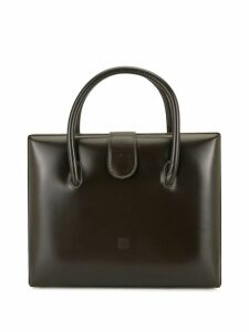 Loewe Pre-Owned structured flat tote - Brown