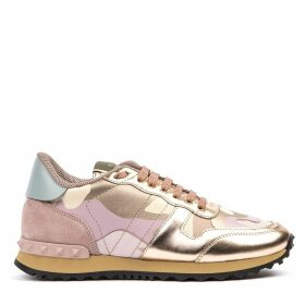 Valentino Garavani Sneaker Camouflage In Leather With Metal Details