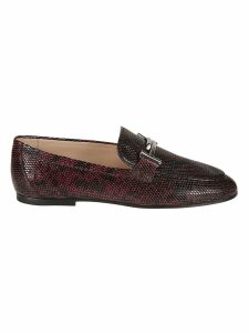Tods Python Print Loafers