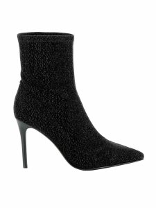 Kendall+kylie Black Fabric Ankle Boots