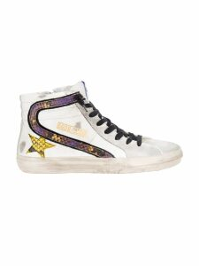 Golden Goose Slide Sneakers With Snake Print Details