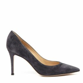 Gianvito Rossi Dark Grey Suede Pumps