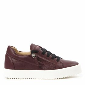 Giuseppe Zanotti Burgundy Leather Addy Sneakers