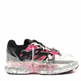 Maison Margiela Black And Pink Leather Fusion Sneakers