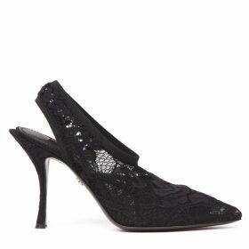 Dolce & Gabbana Black Lace Pumps