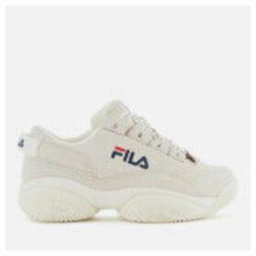 FILA Women's Provenance Trainers - Gardenia/Navy/Red - UK 8