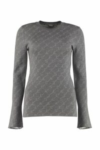 Stella McCartney Monogram Long-sleeved Crew-neck Sweater